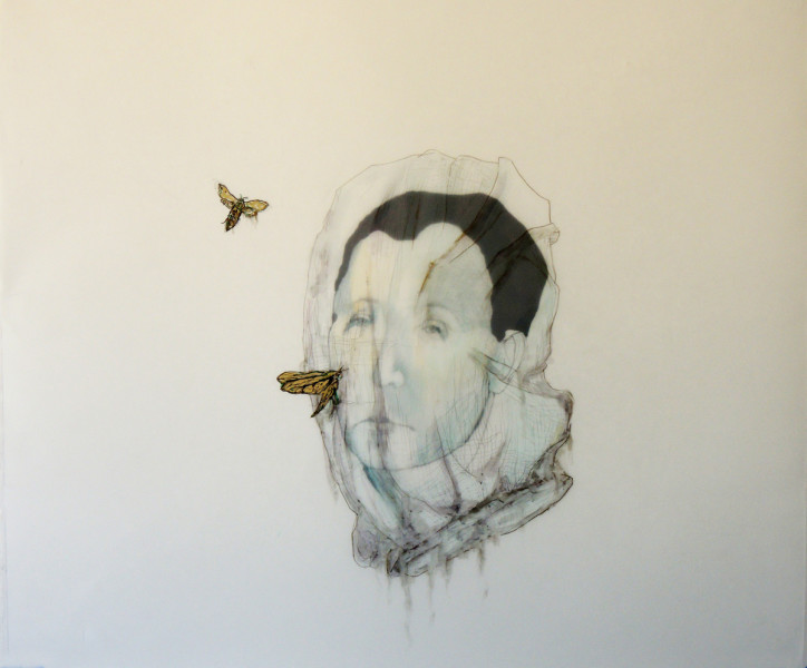 Avish Khebrehzaded , Maskhara with Moth ,2014
