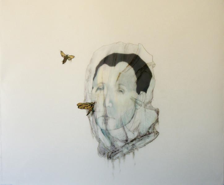Avish Khebrehzaded , Maskhara with Moth ,2014