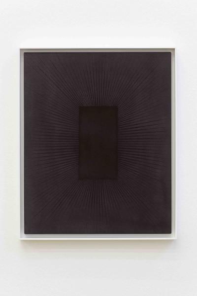 Matti Braun , Ohne Titel (kleines Rechteck auf schwarz) 2009