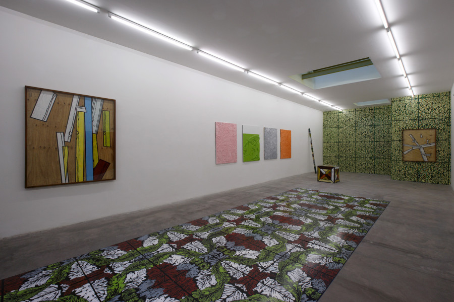 Richard Woods, Flat pack natura, exhibition view