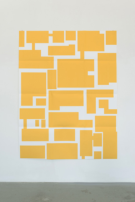 Euan Macdonald, City Limits, 2015 inkjet print on paper, folded. 152 x 203 cm. unique