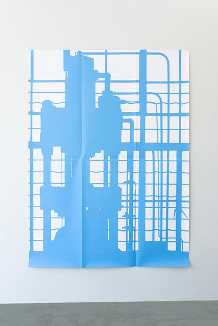 Euan Macdonald, The Profiteer, 2015 inkjet print on paper, folded. 152 x 203 cm. unique