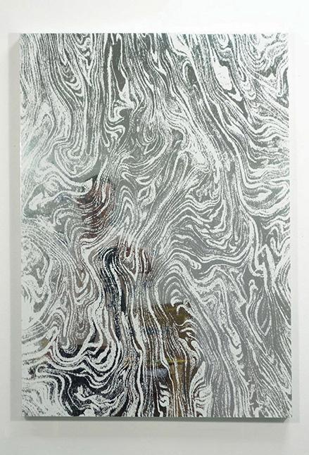 Euan Macdonald, Untitled (End Paper), 2015, enamel on aluminum, cm. 86 x 61